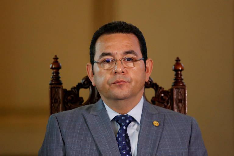 O presidente da Guatemala, Jimmy Morales