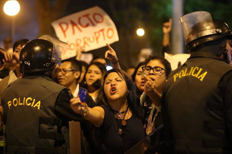 Protestos contra indulto de Fujimori