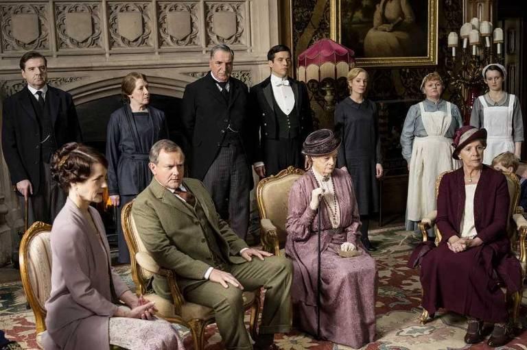 """Cena da série  britânica """"Downton Abbey"""""""