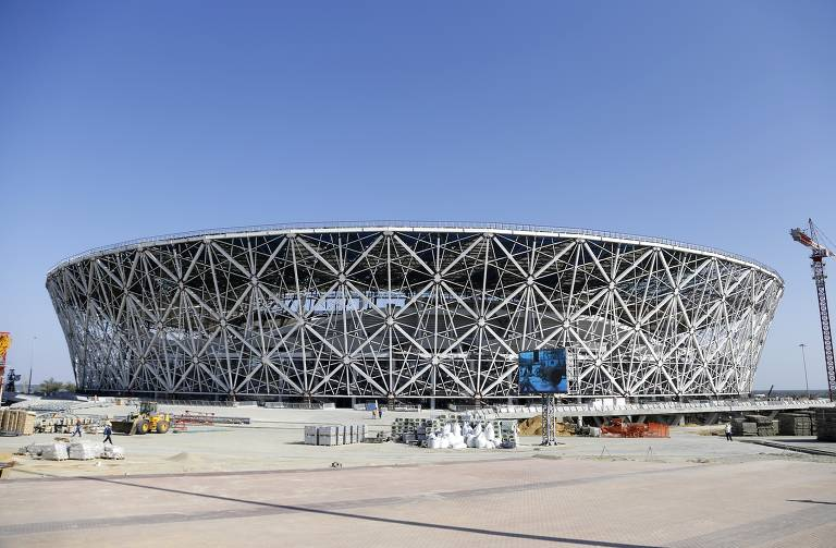 Estádio de Volgogrado, que receberá quatro jogos de primeira fase na Copa