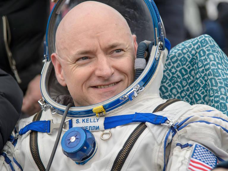O astronauta Scott Kelly passou um ano em órbita na Estação Espacial Internacional