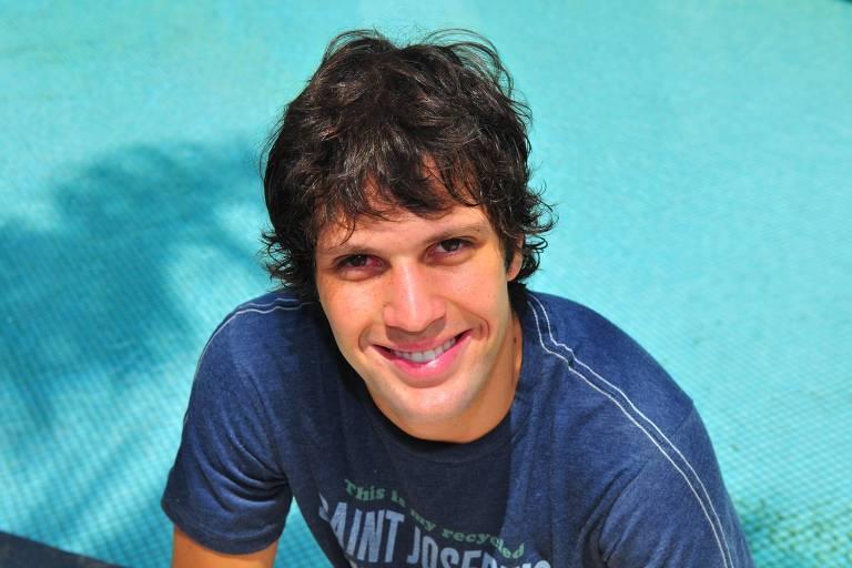 O ator Gustavo Leão em Jacarepaguá, Rio de Janeiro em 2009