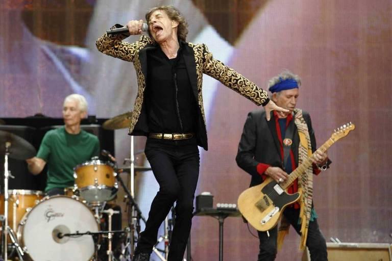 Rolling Stones se apresentam no Summer Time Festival in Hyde Park, em Londres, em 2013