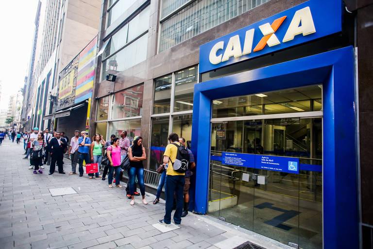 Fachada de agência da Caixa Econômica Federal na região central de São Paulo