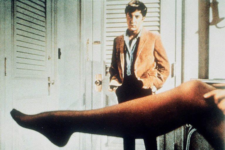 O ator Dustin Hoffman em cena do filme 'A Primeira Noite de um Homem'