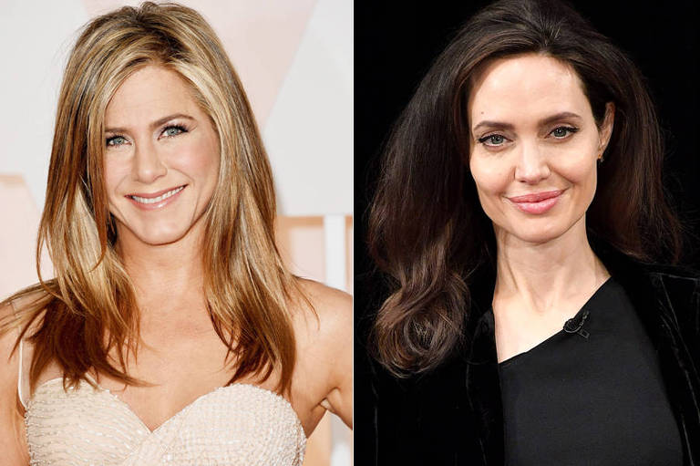 As atrizes Jennifer Aniston e Angelina Jolie