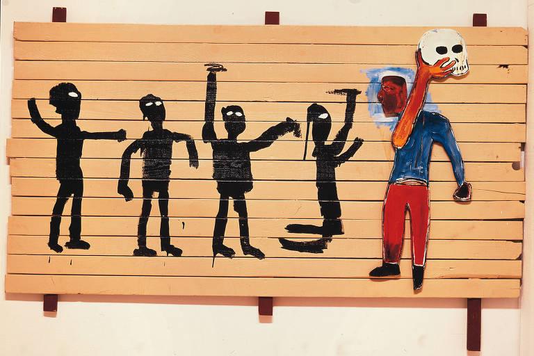 Obra do artista Jean-Michel Basquiat, que terá exposição no CCBB