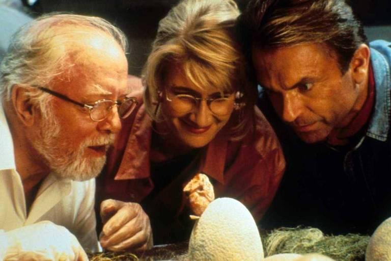 """Cena do filme """"Jurassic Park: Parque dos Dinossauros"""", de Steven Spielberg, de 1993"""