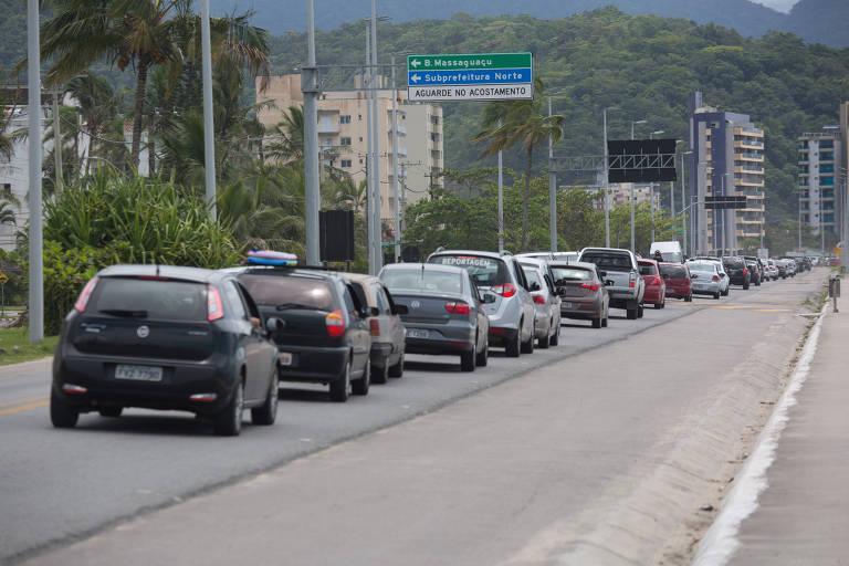 Trânsito no litoral