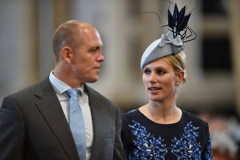 Zara e Michael Tindall chegam para cerimônia em Londres