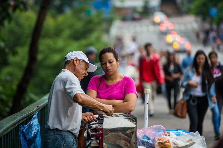 Trabalhadores ambulantes de alimentação