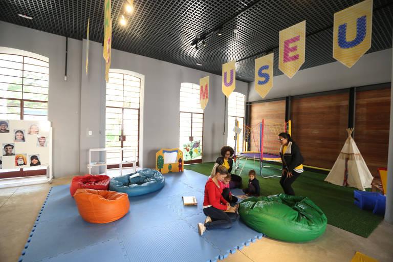 Espaço para crianças no Museu da Imigração