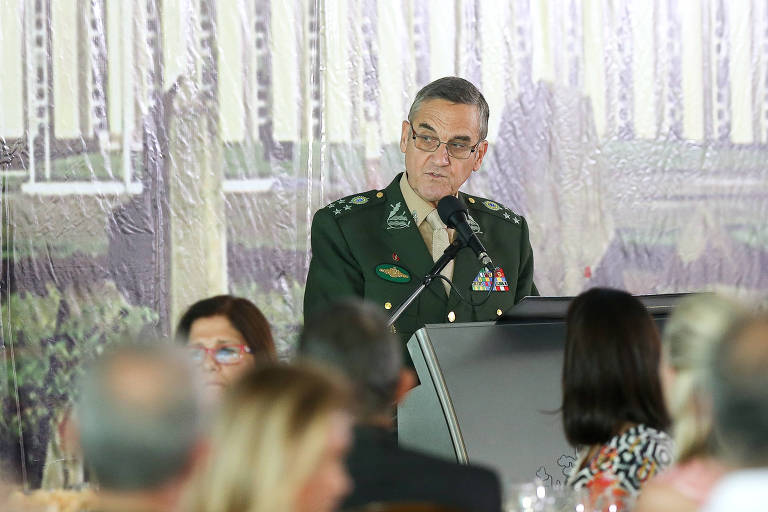 O Comandante do Exército, general Eduardo Villas Bôas, discursa no evento