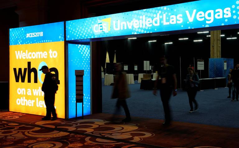 Feira de eletrônicos CES 2018, em Las Vegas (EUA)