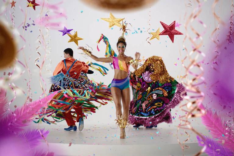 Erika Moura na vinheta do Carnaval Globeleza 2018