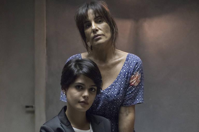 Adriana (Julia Dalavia)  e Duda (Gloria Pires) em cena da novela 'O Outro Lado do Paraíso'