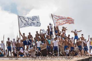 Rebelião na penitenciária de Alcaçuz em Nísia Floresta/RN
