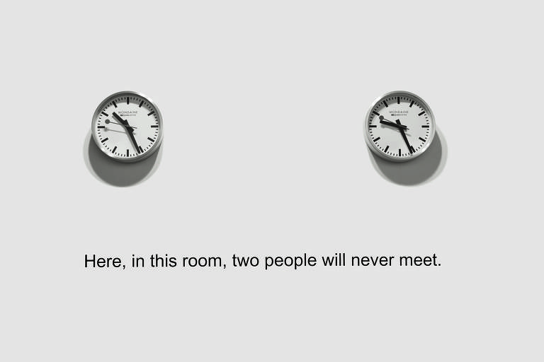 """Here, in this room, two people will never meet"" (2012-2014), David Lamelas"