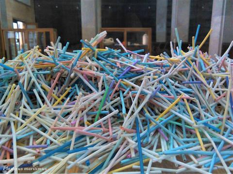 Projeto Plasticus Maritimus -        Colecção de canudinhos coletados na praia ORG XMIT: MV3_JY6-I8xwpG_yqlTq DIREITOS RESERVADOS. NÃO PUBLICAR SEM AUTORIZAÇÃO DO DETENTOR DOS DIREITOS AUTORAIS E DE IMAGEM