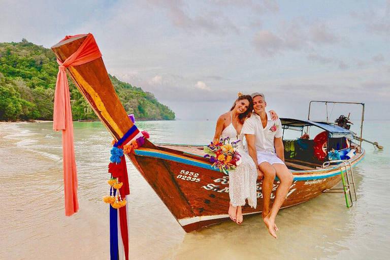 Flávia Alessandra e Otaviano Costa na Tailândia