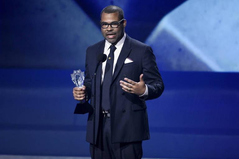 O diretor Jordan Peele, de 'Corra!', no prêmio Critics' Choice