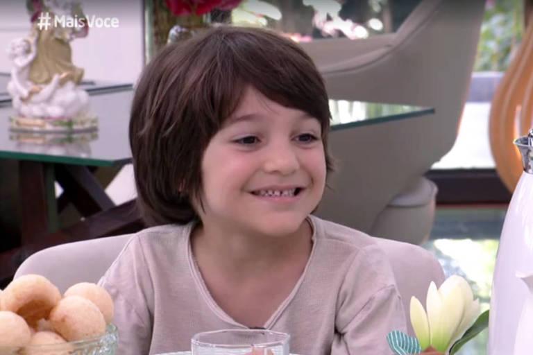 Theo Barreto, de seis anos, foi convidado especial do programa 'Mais Você'
