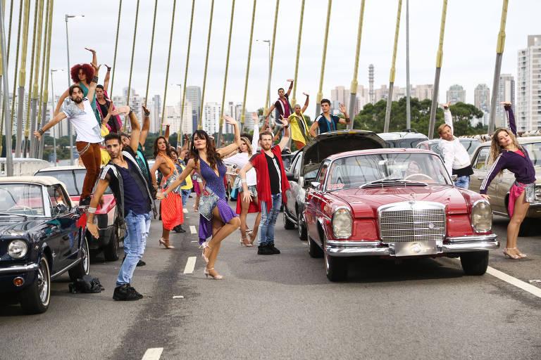 """Gravação da abertura do """"Dancing Brasil"""""""
