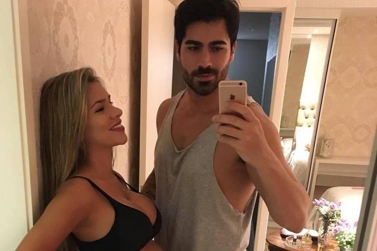 O casal de ex-BBBs Rodrigão e Adriana