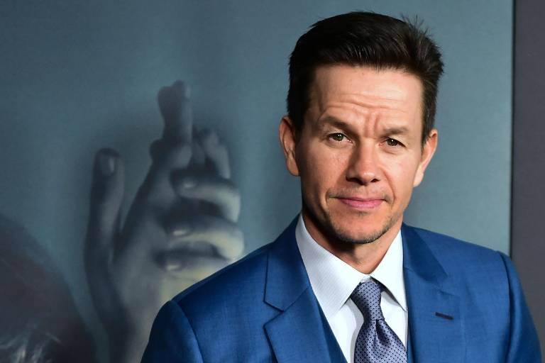 "Mark Wahlberg durante premiere do filme ""All the Money in the World"""