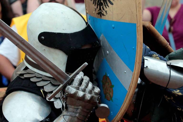 Batalha de cavaleiros em Campinas