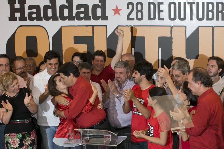 Haddad comemora vitória em SP