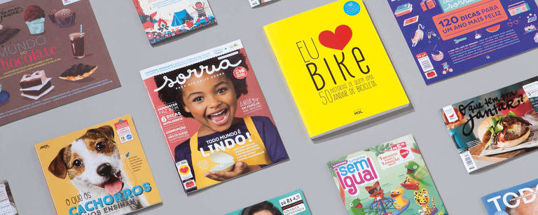 Seleção de revistas publicadas pela editora Mol Divulgação