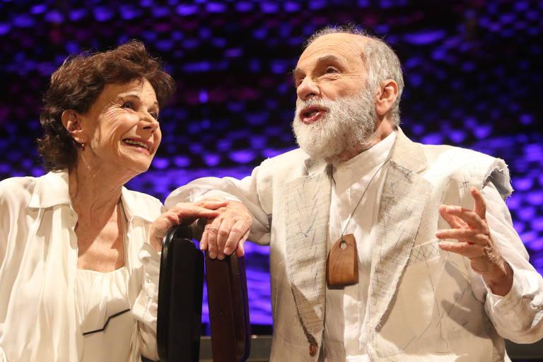 Os atores Miriam Mehler e Renato Borghi em 'Romeu e Julieta 80'