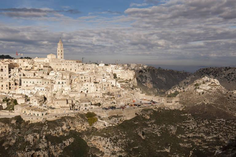 Panorama de Matera, na região de Brasilicata, na Itália