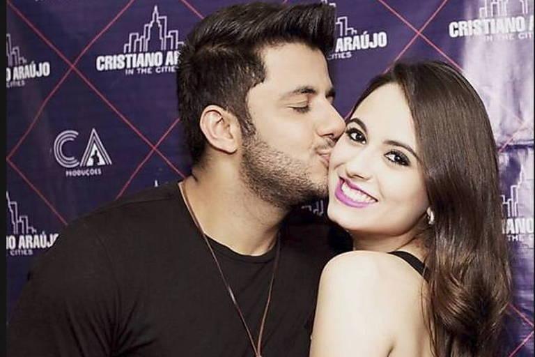 Cristiano Araújo e a namorada Allana Coelho Pinto de Moraes