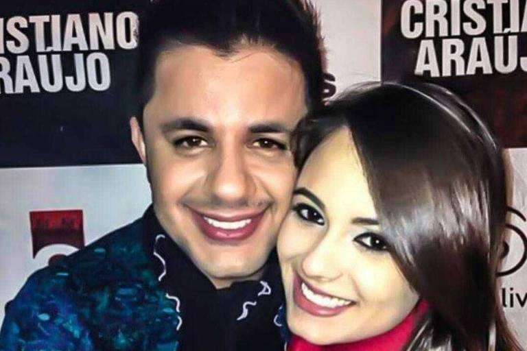 Cristiano Araújo e a namorada Allana Moraes, que morreram em acidente de carro em junho de 2015