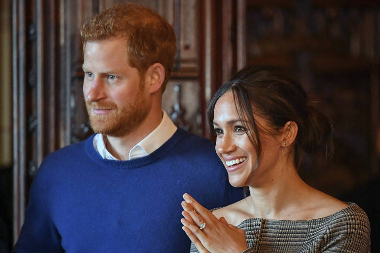 Príncipe Harry e a noiva Meghan Markle