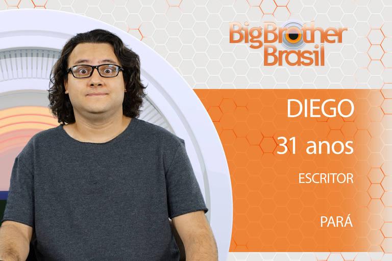 Diego é o novo participante do BBB 18. Paraense de 31 anos, vive atualmente em São Paulo e é escritor