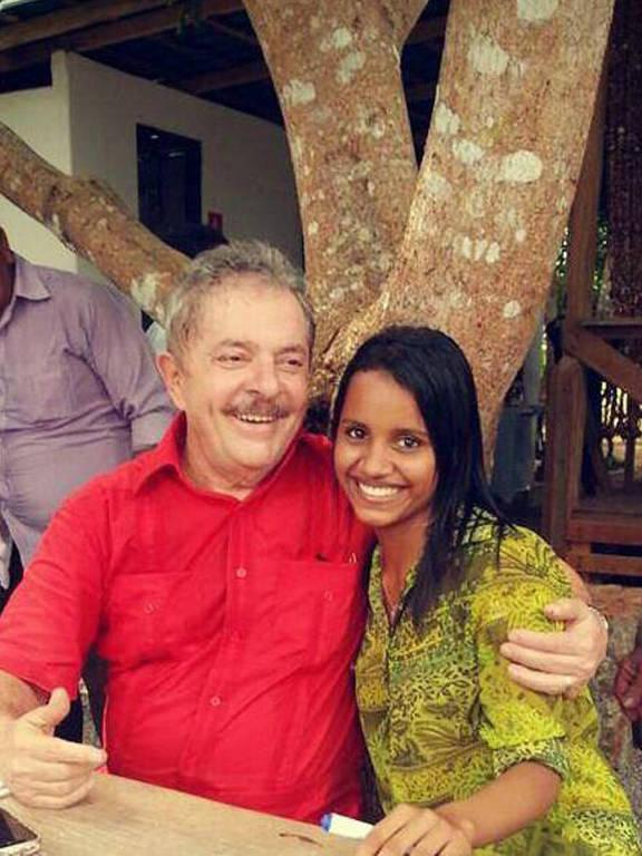 Gleici, participante do BBB com Lula