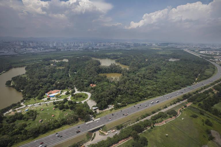 Imagens aéreas de São Paulo
