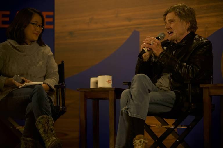 O ator e diretor Robert Redford na abertura do Festival Sundance
