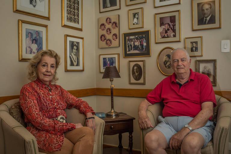 O casal Rosaly e Sylvio Bocchino