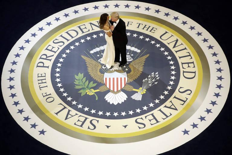 O presidente dança