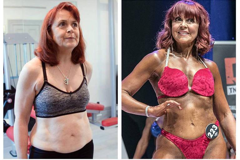 Nia Ceidiog se tornou fisiculturista aos 63 anos