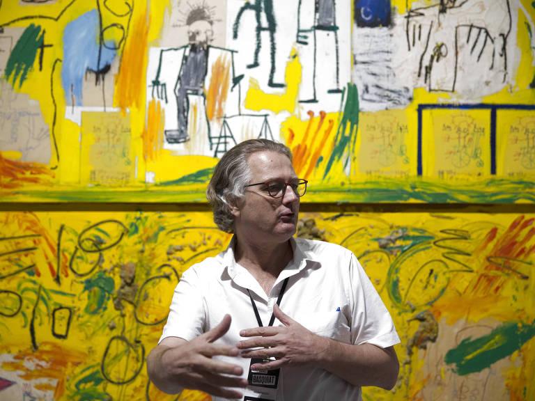 O curador da exposição de Jean-Michel Basquiat, Pieter Tjabbes – Danilo Verpa/Folhapress