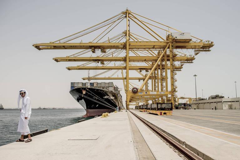 Porto de Hamad, no Qatar