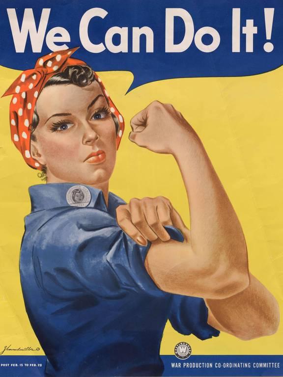Cartaz 'We Can Do It', da Segunda Guerra Mundial, com a personagem Rosie the Riveter