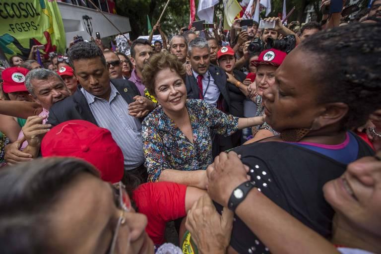 Manifestações em Porto Alegre em apoio a Lula
