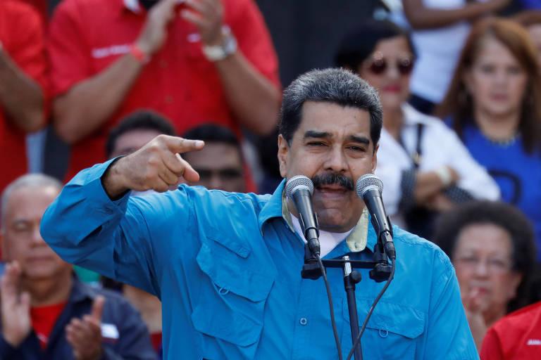 Nicol�s Maduro discursa na celebra��o dos 60 anos da queda do ditador direitista Marcos P�rez Jim�nez