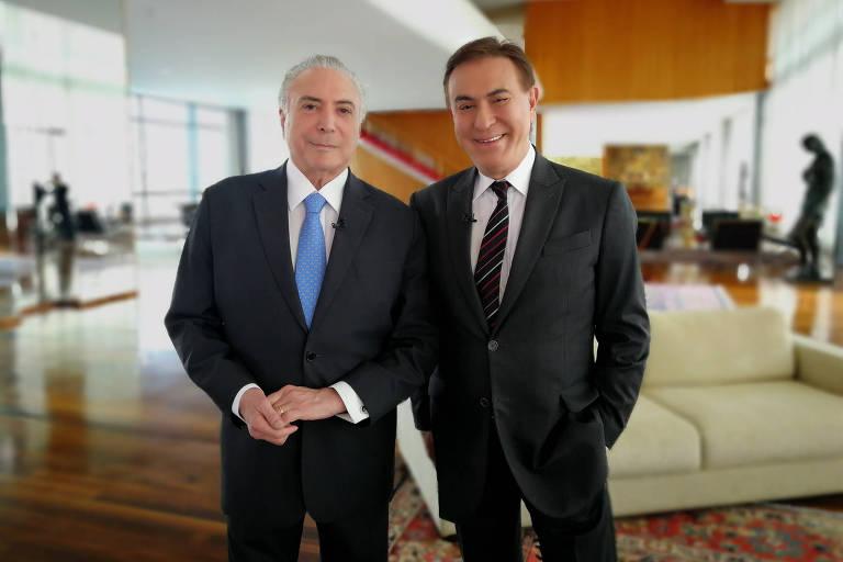 Michel Temer e Amaury Júnior